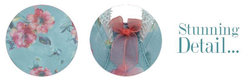 panache fern blue floral details