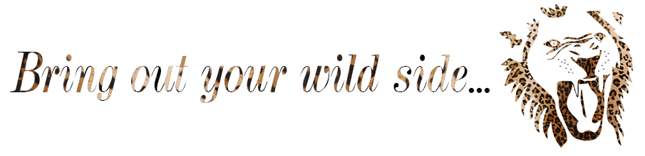 bring out your wild side banner with lion