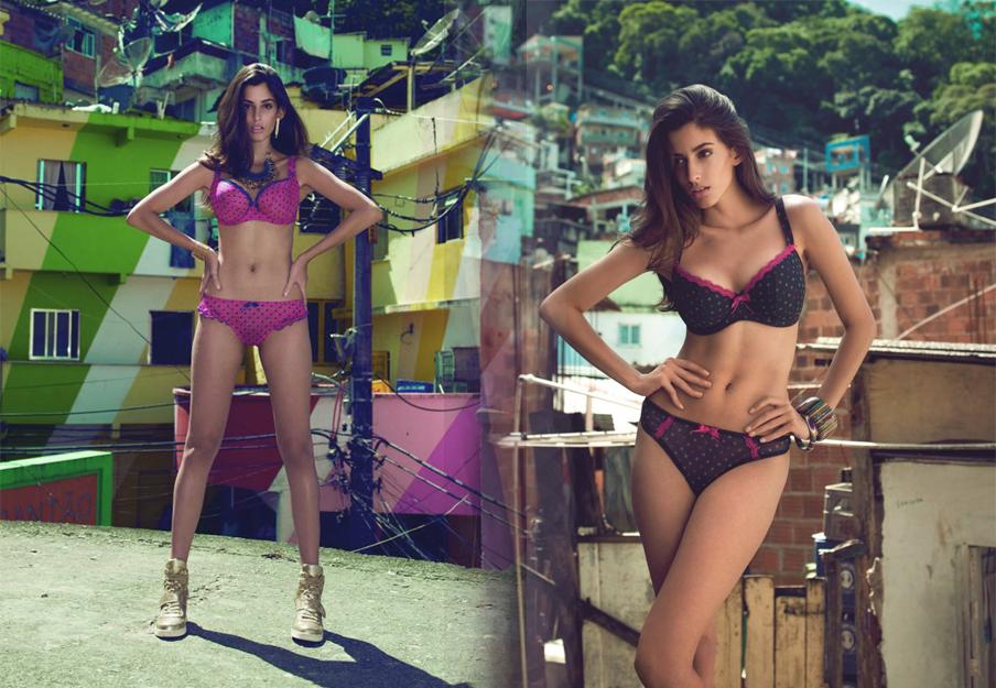 models wear freya patsy range in fuchsia and ink south american backdrop