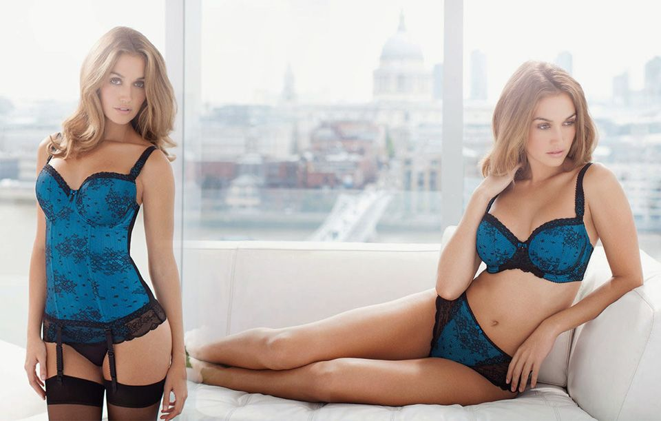 model fantasie ivana teal basque and brief