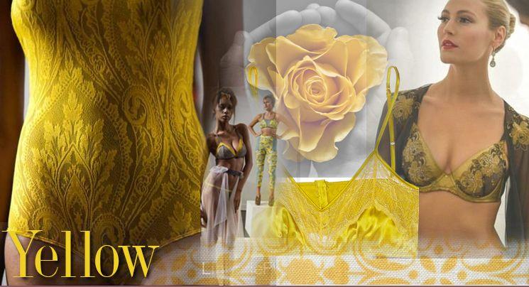 lingerie fashion week yellow