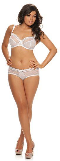 curvy kate princess white bra and short