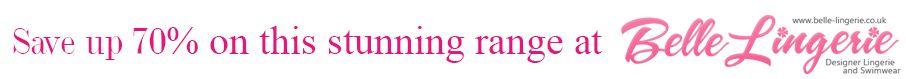 save up to 70% belle lingerie banner