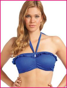 model wears Freya cherish cobalt blue bandeau top