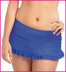model wears Freya cherish cobalt blue skirted brief