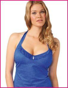 model wears Freya cherish cobalt blue tankini top