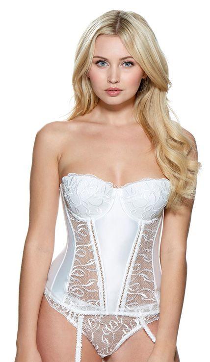 model wears lepel bouquet ivory basque