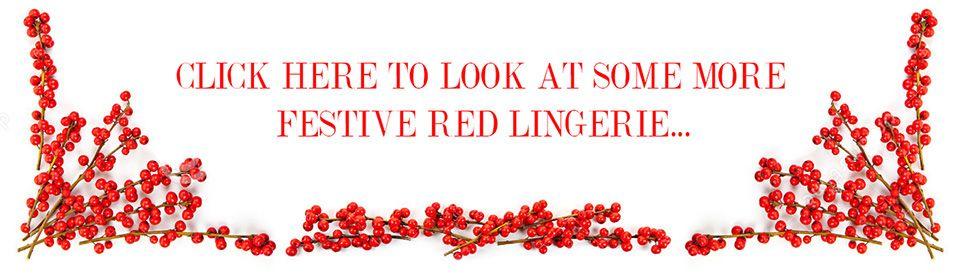 belle lingerie red festive lingerie banner