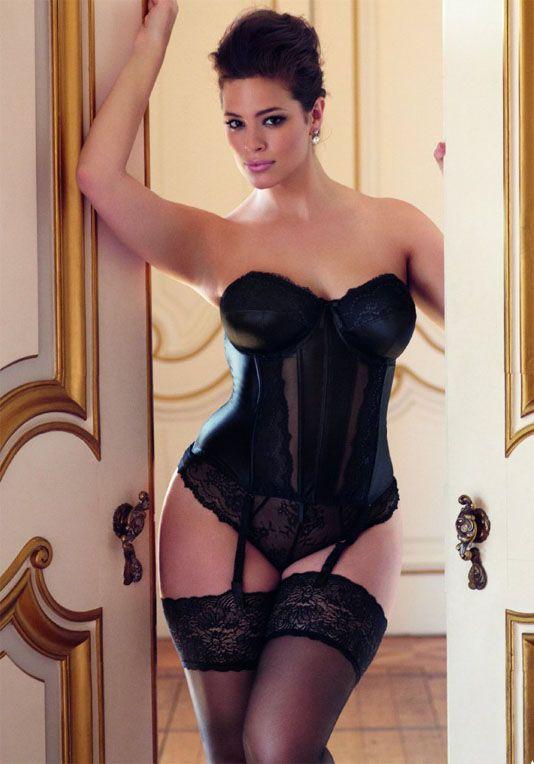 model wears elomi maria basque black