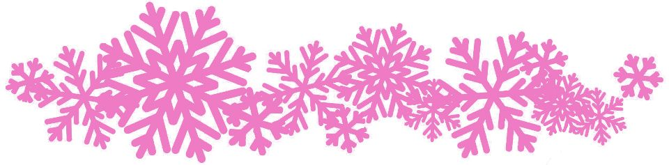 belle lingerie pink snowflake banner