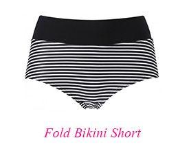 3606 Freya Tootsie Fold Bikini Short Black