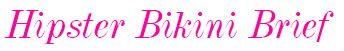 3689 Freya Rock The Beach Hipster Bikini Brief logo