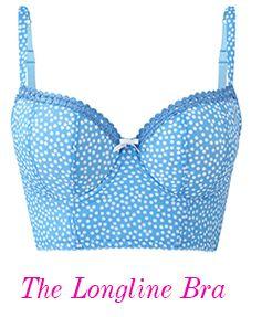 7435 Cleo Minnie Longline Bra Skyblue Spot