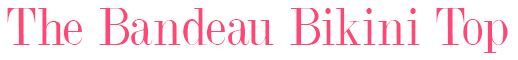 CW0193 Cleo Lucille Bandeau Bikini Top Coral title