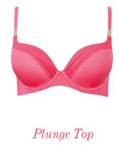 8861 Gossard Sienna Plunge Bikini Top Soft Red