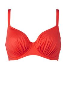 5749 Fantasie Versailles Full Cup Gathered Bikini Top clementine
