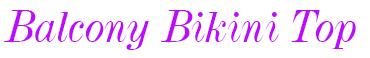 SW0742 Panache Tallulah Balcony Bikini Top Animal Print label