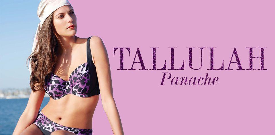 panache tallulah swimwear purple animal print