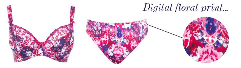 freya hypnotise sangria pink digital floral print