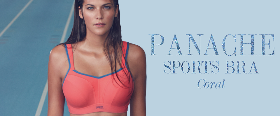 511c5afe79736 The Award Winning Panache Sports Bra Welcomes a Brand New Coral   Grey  Colour Combo