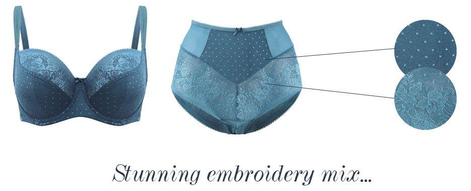 panache olivia jade balcony bra and brief embroidery details
