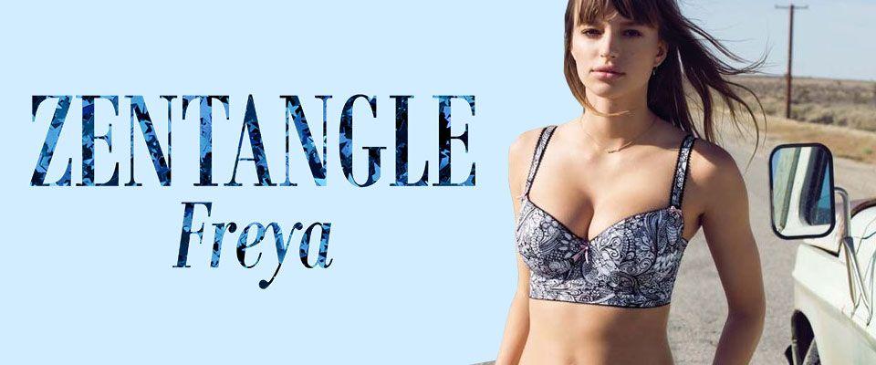 freya lingerie zentangle monochrome