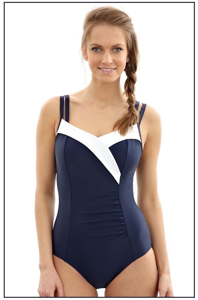 SW0950 Panache Portofino Swimsuit Navy/White