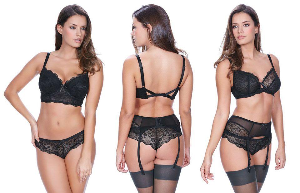 freya lingerie fancies black full set