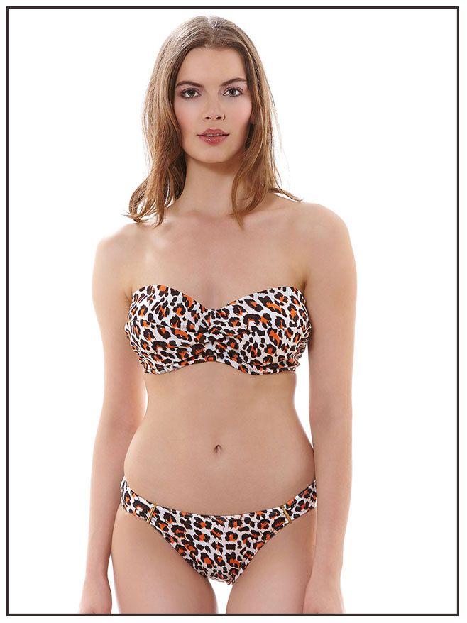 3893 Freya Sabor Bandeau Bikini Top Spice
