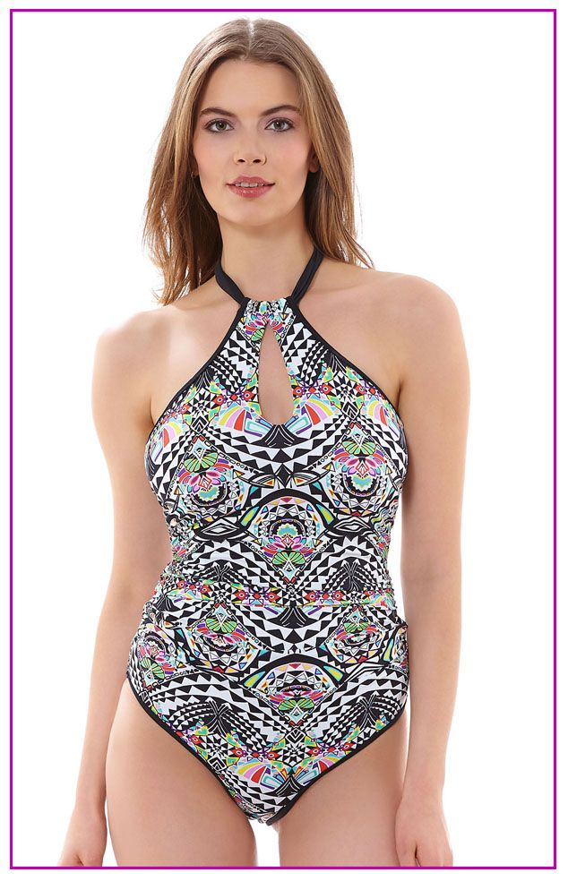 3923 Freya Zodiac High Neck Swimsuit Multi