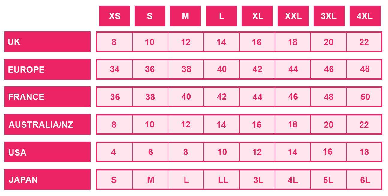 belle lingerie international brief size guide