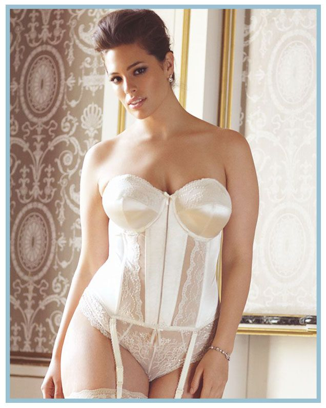 8502 Elomi Maria Basque cream black