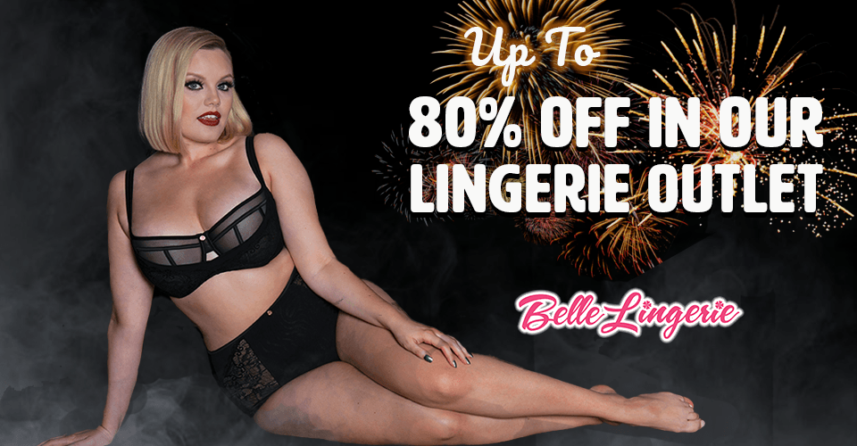 Up to 80% off in our Lingerie Outlet