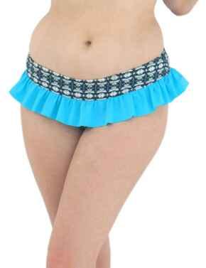 2335 Curvy Kate Cocoloco Skirted Bikini Brief - 2335 Blue
