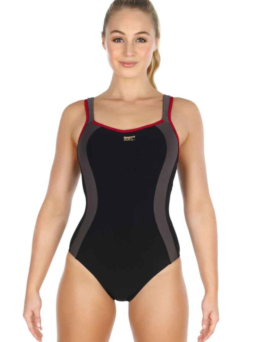 1d943b78cb Outlet · 7340 Panache Sport Swimsuit Black - 7340 Swimsuit