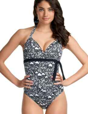 3518 Freya La Bamba Soft Halter Swimsuit - 3518 Black and White