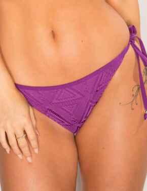 31004 Pour Moi Bora Bora Tie Side Bikini Brief - 31004 Purple