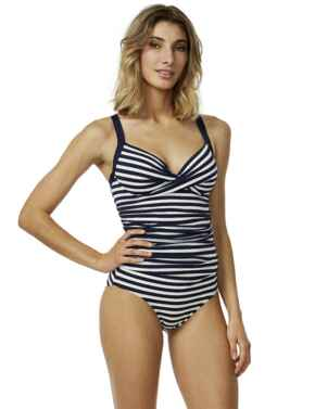 M4023AB Moontide Above Board Wrap Underwired Swimsuit - M4023AB Navy