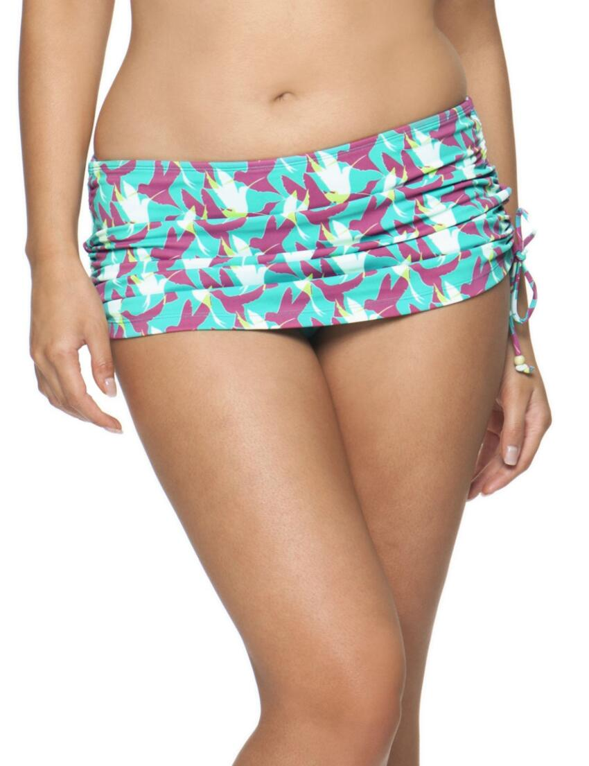 1455 Curvy Kate Birds of Paradise Swim Skirt - CS1455 Skirted Brief
