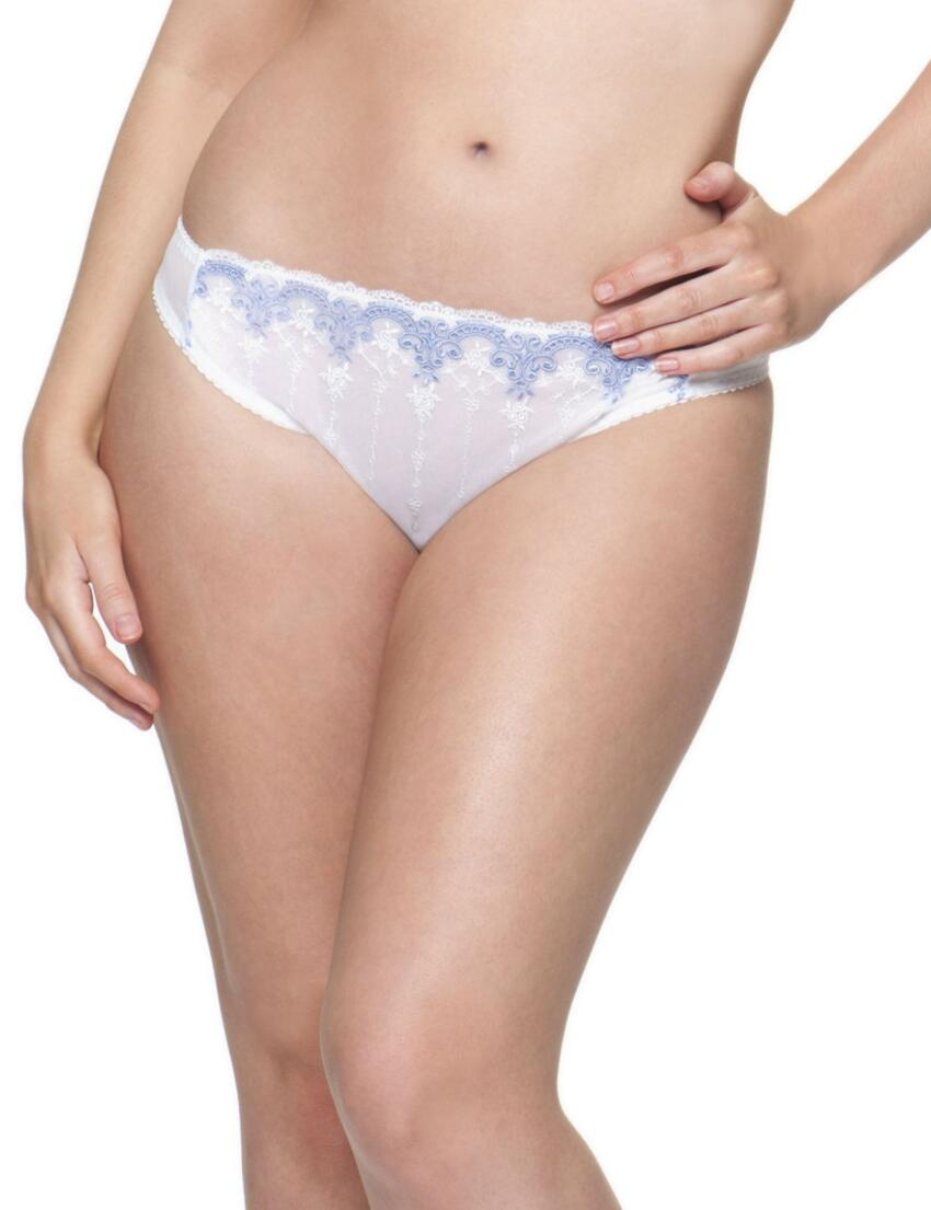 1502 Cury Kate Romance Thong White China Blue - 1502 Thong