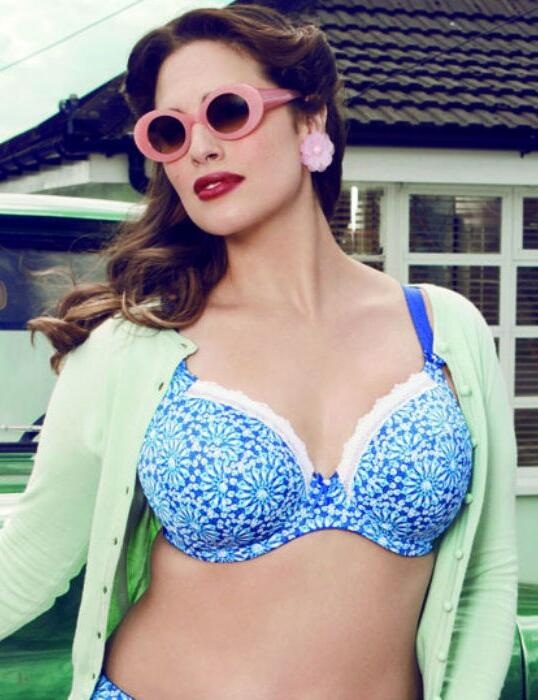 8810 Elomi Tiffany Plunge Bra Sapphire - 8810 Bra