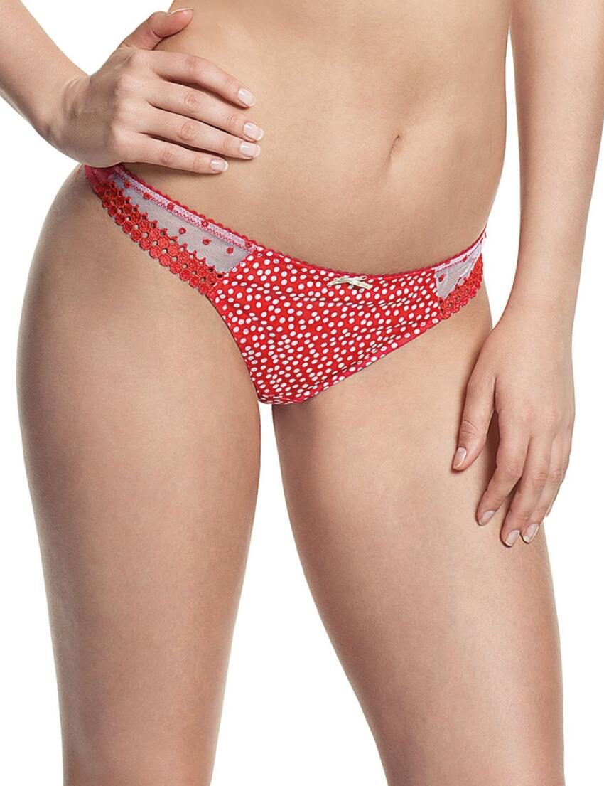 7439 Cleo by Panache Minnie Thong Red Spot - 7439 Thong