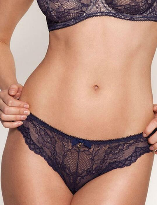 7716 Gossard Superboost Lace Thong - 7716 Midnight Blue