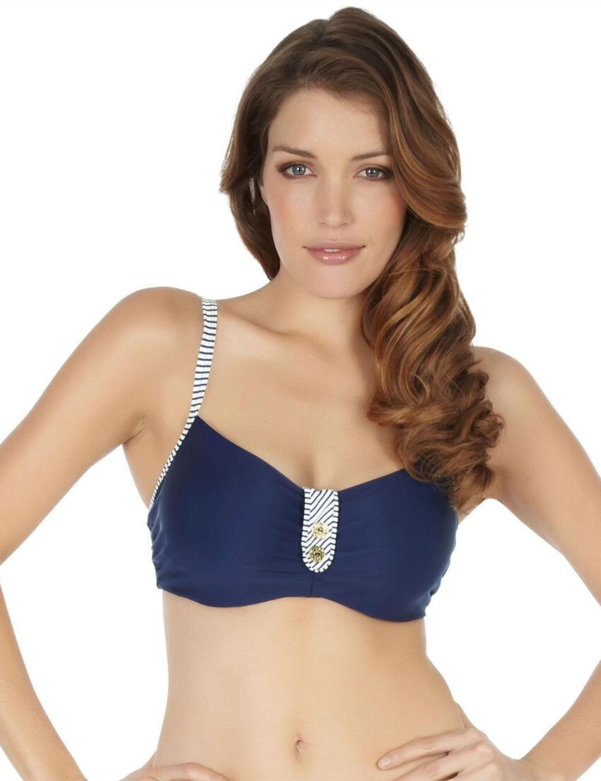 SW0642 Panache Veronica Balcony Bikini Top Navy - SW0642 Bikini Top