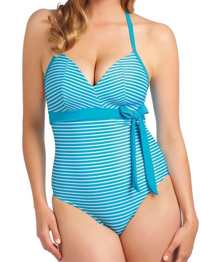 3604 Freya Tootsie Halterneck Swimsuit Azure - 3604 Azure