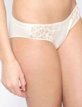 17163 Maison Lejaby Talisman Bikini Style Briefs - 17163 Savannah Beige