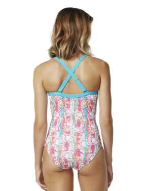 M4023FB Moontide Flora Belle Underwired Wrap Swimsuit - M4023FB Multi (Floral Print)