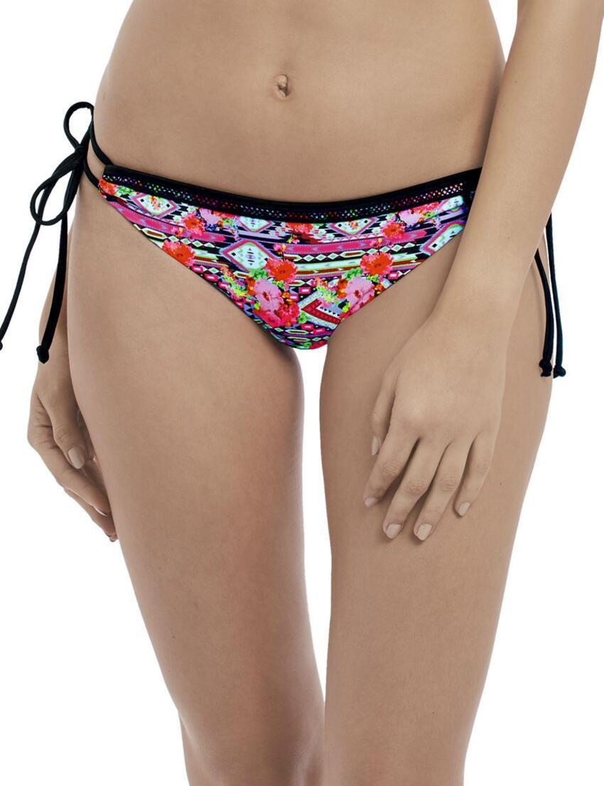 Black Freya Texas Rose Bikini Brief Mid Rise 4613 Fully Lined Bottoms