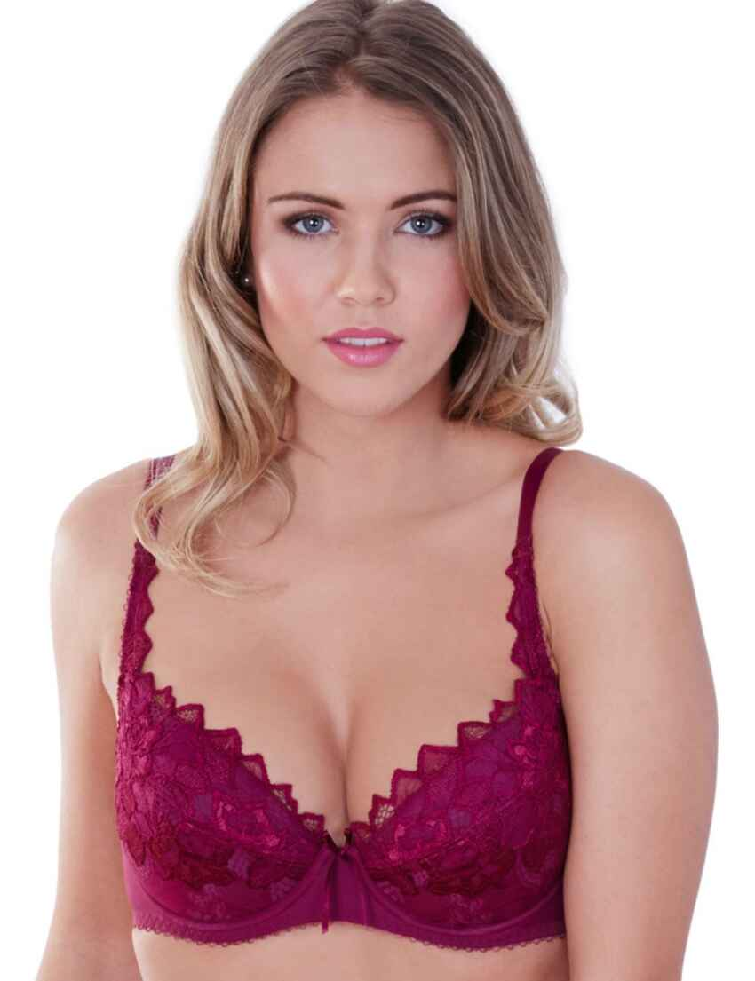 f60c5a5473189 Save · 0932000 Lepel Fiore Padded Plunge Bra - 0932000 Deep Berry
