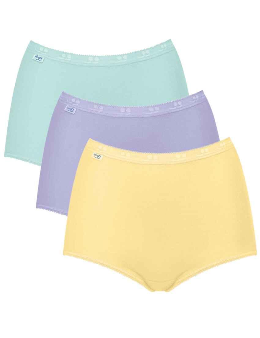 02bb33b5e8 10105593 Sloggi Basic Maxi Brief 3 Pack - 10105593 Yellow Light Combination  (Pastel Colours